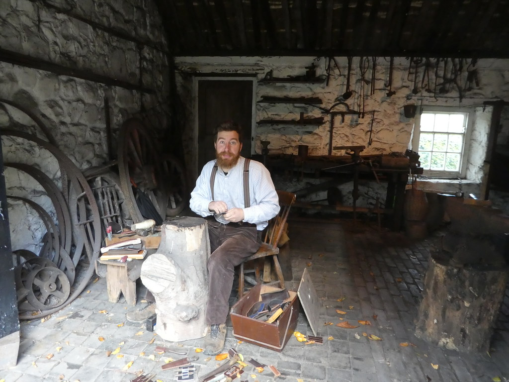 Demonstrations at the forge, Ulster Folk Museum