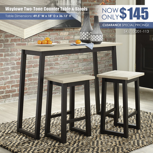 Waylowe Counter Height Table & Stools_D201-113