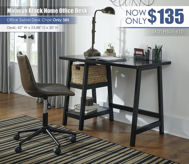 Mirimyn Black Home Office Desk_H505-610-H200-01