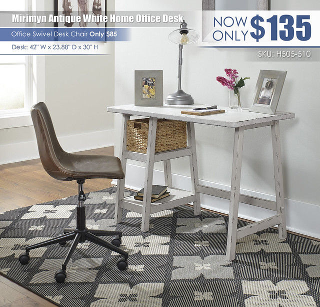 Mirimyn Antique White Home Office Desk_H505-510-H200-01