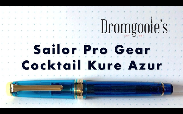 Sailor Pro Gear Cocktail Kure Azur Fountain Pen Title Card