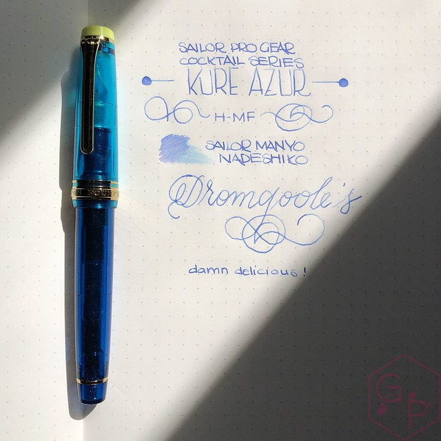 Sailor Pro Gear Cocktail Kure Azur Fountain Pen 14