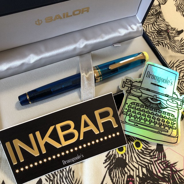 Sailor Pro Gear Cocktail Kure Azur Fountain Pen 6