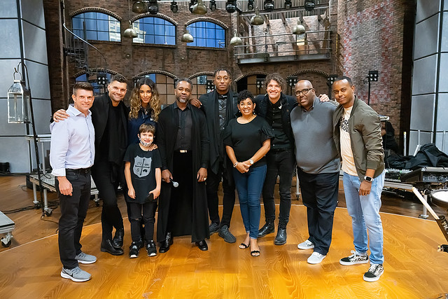 HENDERSONVILLE, TN - SEPTEMBER 17:  for KING & COUNTRY, WRLDFMS Tony Williams, & Lecrae w/2020 Dove Awards Production Team during the 2020 Dove Awards at TBN Studios on September 17, 2020 in Hendersonville, Tennessee.  (Photo by Don Claussen/Trap The Ligh