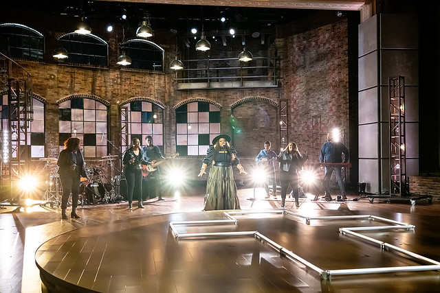 HENDERSONVILLE, TN - SEPTEMBER 16:  Tasha Cobbs Leonard performs onstage during the 2020 Dove Awards at TBN Studios on September 16, 2020 in Hendersonville, Tennessee.  (Photo by Don Claussen/Trap The Light Photography for Dove Awards)