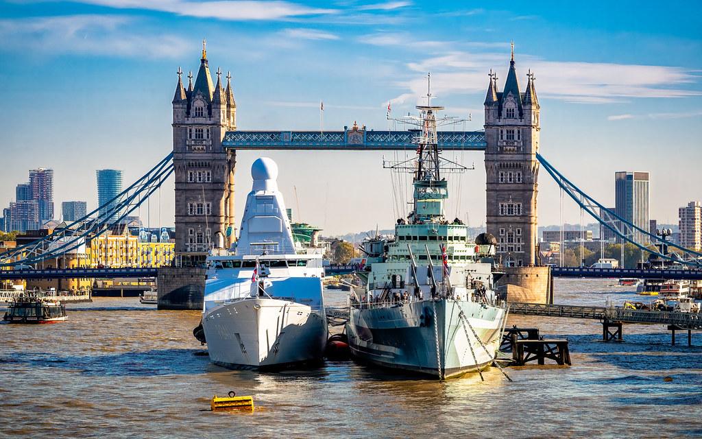 Warships in London, 2018
