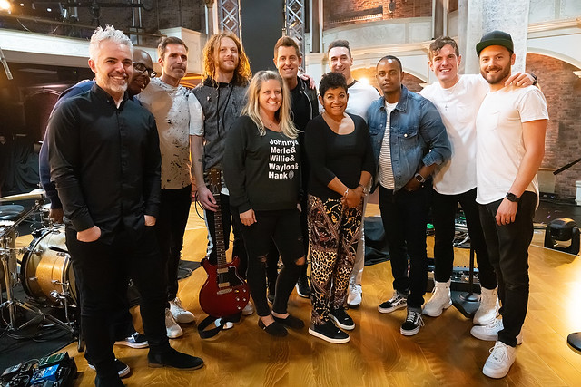 HENDERSONVILLE, TN - SEPTEMBER 16:  Jeremy Camp & Band w/2020 Dove Awards during the 2020 Dove Awards at TBN Studios on September 16, 2020 in Hendersonville, Tennessee.  (Photo by Don Claussen/Trap The Light Photography for Dove Awards)