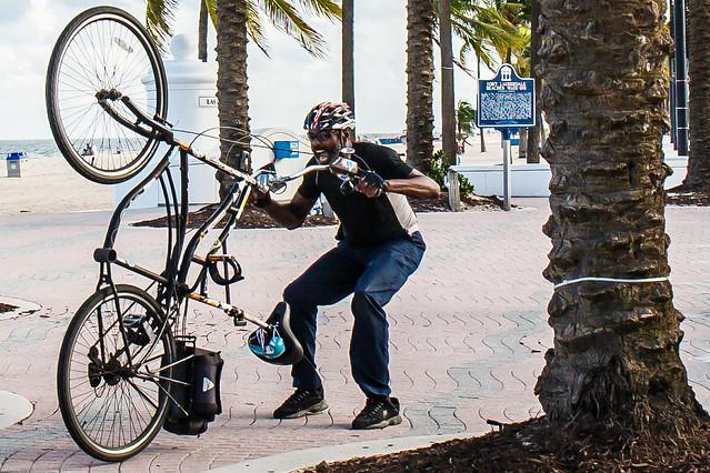 Bike Antics on Ft. Lauderdale Beach