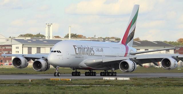 Emirates, F-WWSO, Reg.A6-EVL, MSN 261, Airbus A 380-842, 22.10.2020, XFW-EDHI, Hamburg Finkenwerder