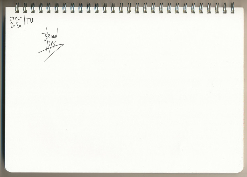 Brian Dys Artist Signature on Notebook