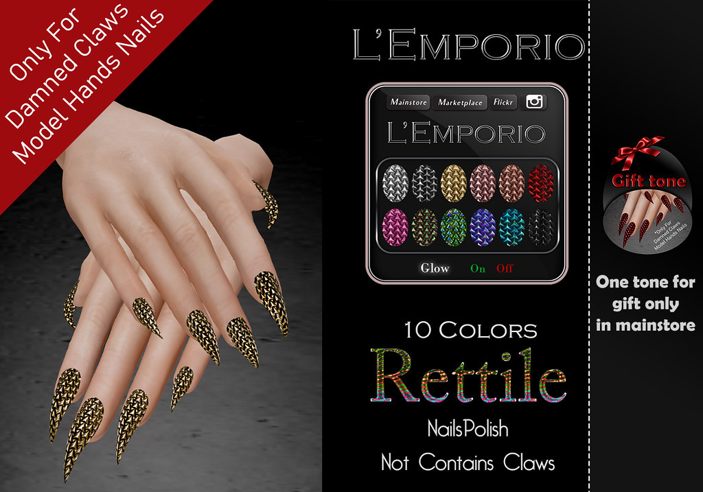 L'Emporio&PL -Damned Claws -Hands NailsPolish-