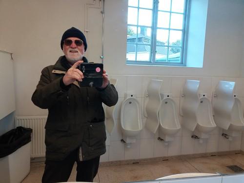 Self portrait in the toilet, Drottningholm Palace
