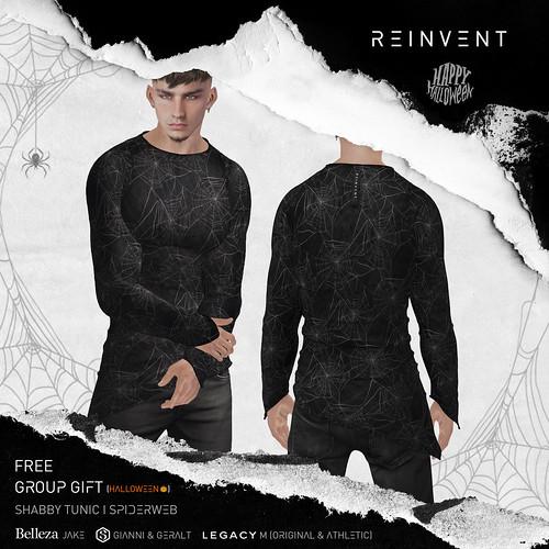 REINVENT I Shabby Tunic I Spiderweb - Halloween Gift @MainStore
