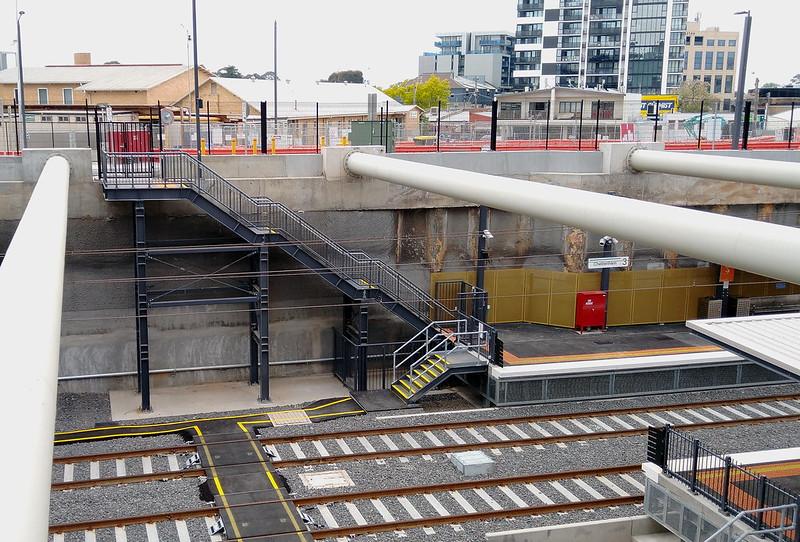 Cheltenham station - emergency exit from platform 3