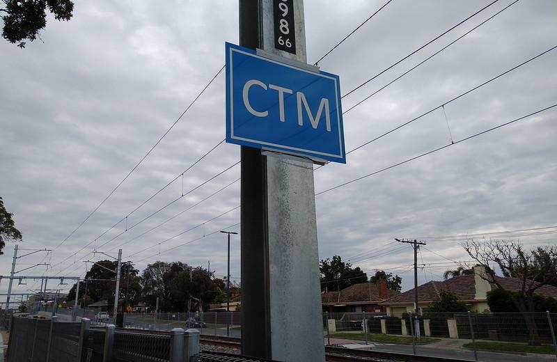 CTM sign, near Cheltenham station