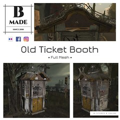Old Ticket Booth now available @ the Mainstore