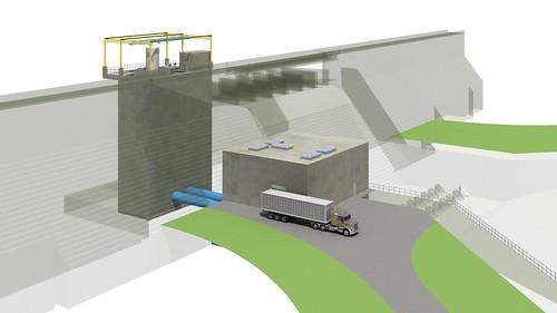 Rendering of the Leon Hurse Dam
