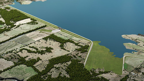 A Rendering of the Future Lake's Dam and Spillway