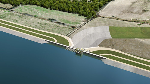 Rendering of the Dam and Spillway