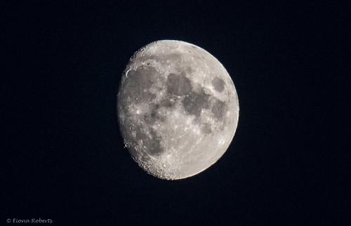 86.7 % Waxing Moon over the Swansea Valley