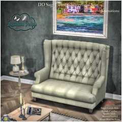 DD Sage Linen Chesterfield Seat-Adult