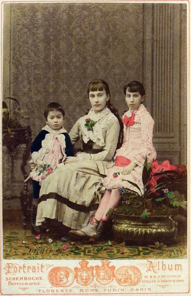 23. Владимир, Софья и Людмила фон Мекк, 1881
