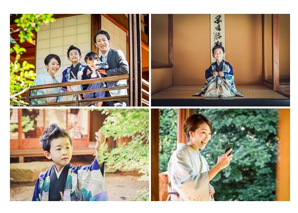 東山荘(名古屋市)で七五三前撮りのロケーション撮影 和室 和風家屋