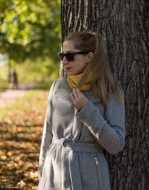 Ilona in beautifull autumn scenery :)