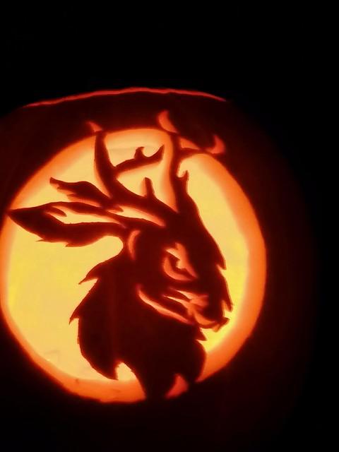 Jackalope pumpkin