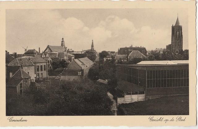 Ansichtkaart - Gorinchem, Gezicht op de stad (Uitg. J. Sleding, Amsterdam - Poststempel 1937)