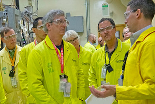 David Eyler (at back), Triad Associate Lab Director, Weapons Production; Bob Raines, NNSA Associate Administrator for Acquisition and Project Management; Kathye Segala, Triad Associate Lab Director, Capital Projects; Everett Trollinger, Director LANL Project Management Office and David Dooley,Triad Chief Weapons Production Officer took part in an official project walk down led by Raines.