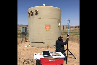 ALFaLDS is deployed during blind tests at the model oil and gas test facility at Fort Collins, Colorado.