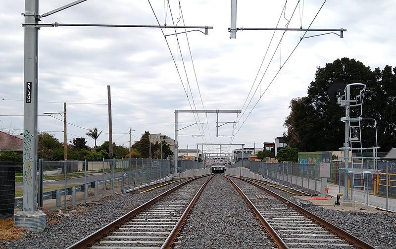 Railway line looking towards Mentone station