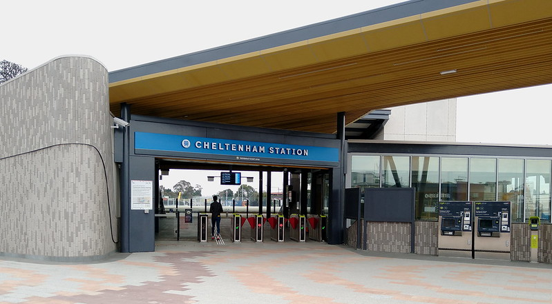 Cheltenham station entrance to concourse