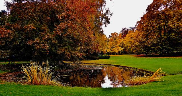 Germany, Stuttgart-Hohenheim, rund um den herbstlichen Schlossgarten, 60036/13114