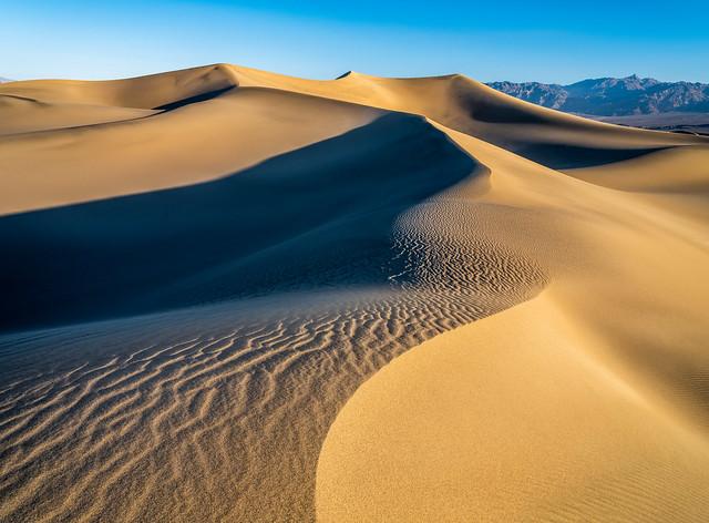 Death Valley Dunes Fuji GFX 100 Zen Tao Fine Art Landscape Nature Photography! Mesquite Dunes Death Valley National Park California Desert! Elliot McGucken 45EPIC Master Medium Format Photographer Fujifilm GFX100 & Fujifilm Fujinon Lens!