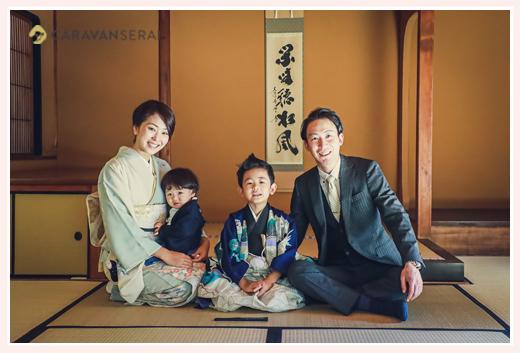 東山荘(名古屋市)で七五三前撮りのロケーション撮影
