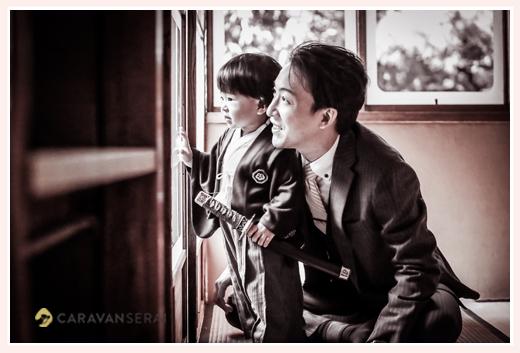七五三の前撮り パパと息子さん