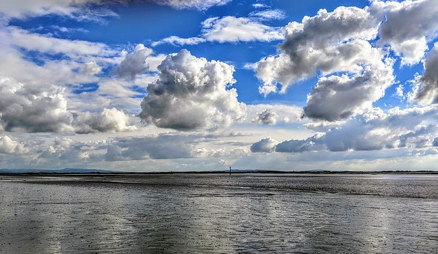 Skies over the beach at Lytham-st-Annes