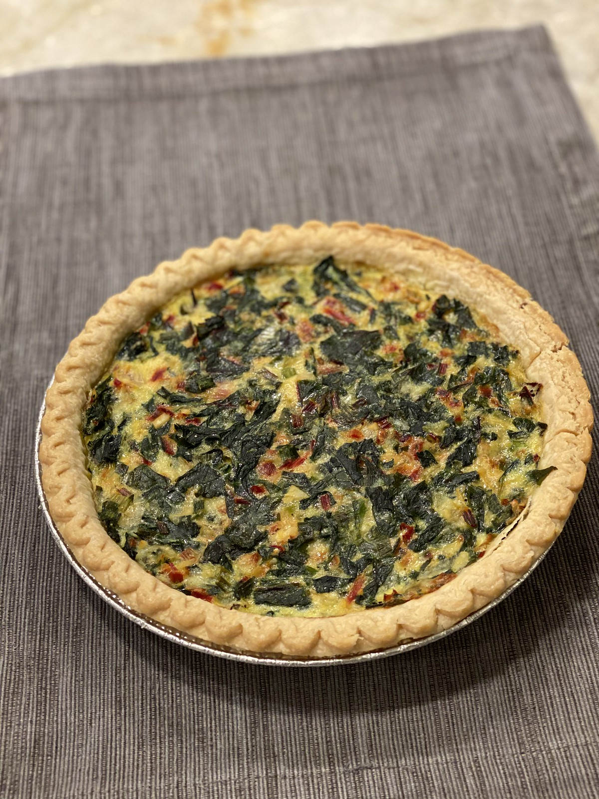 Swiss Chard and Gruyere Tart