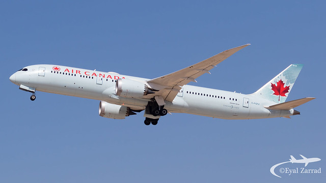 TLV - Air Canada Boeing 787-9 C-FGFZ