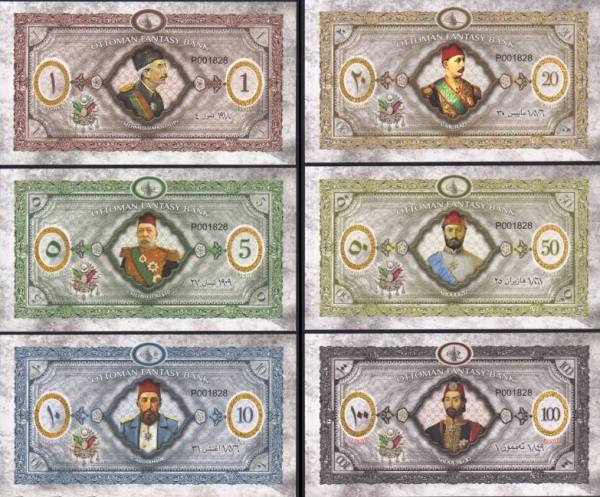 Ottoman Empire (Osmanská ríša) 1-100 Livres 2020 polymer