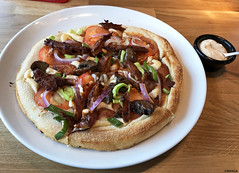 20190625_i3 Vegan Oumph pizza at Peppes Pizza in or near Bodø, Norway