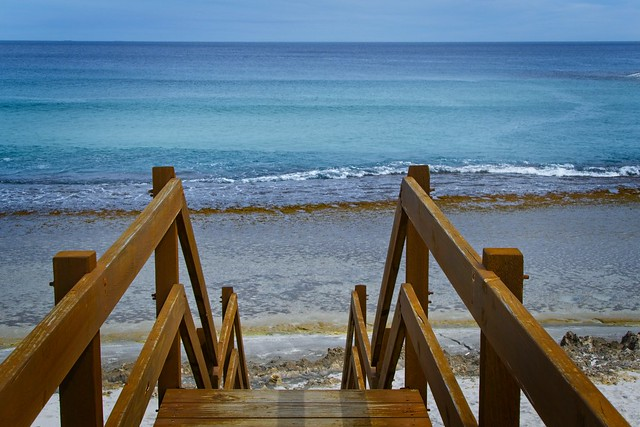 I'll build a stairway to...............with my knees, one step at a time. Esperance, Western Australia.