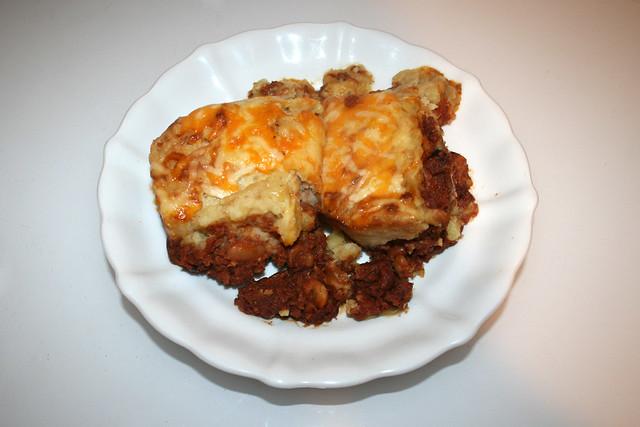 Corned beef hash with sour cream mashed potatoes - Leftovers II / Corned Beef Auflauf mit Sauerrahm-Kartoffelpüree - Resteverbrauch II