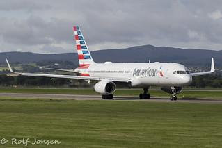 N198AA Boeing 757-200 American Airlines Glasgow Airport EGPF 06.09-18