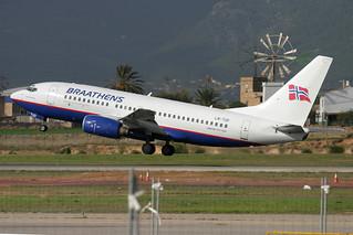 LN-TUD. B-737/700. Braathens. PMI.