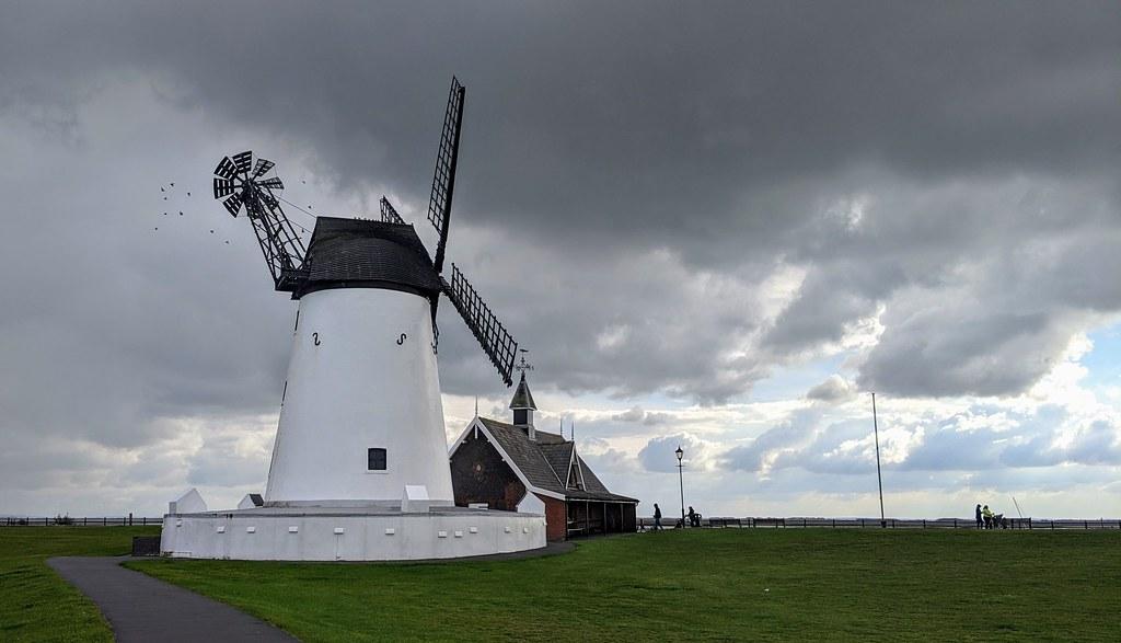 Dark clouds over Lytham Windmill