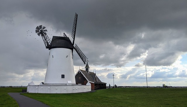 Dark clouds over Lytham Windmill