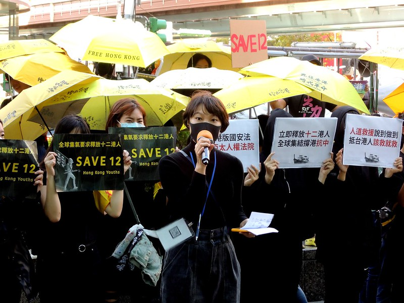 大會主持香港邊城青年秘書長Justine對被送中的十二港人相當憂心。圖/永社協會提供